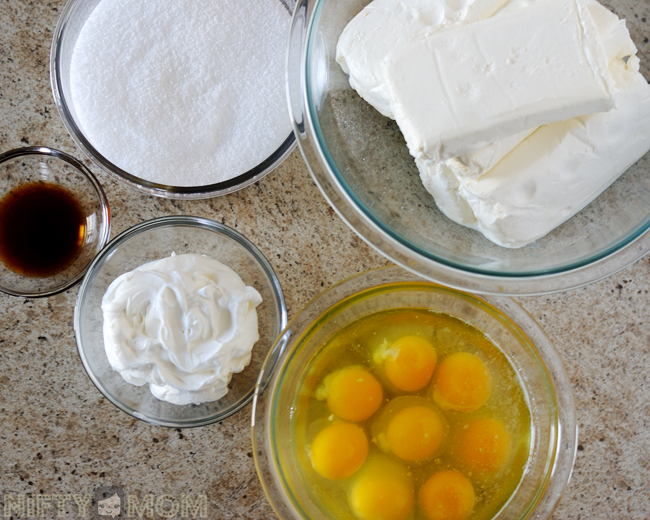 Mini Cheesecake Filling Ingredients