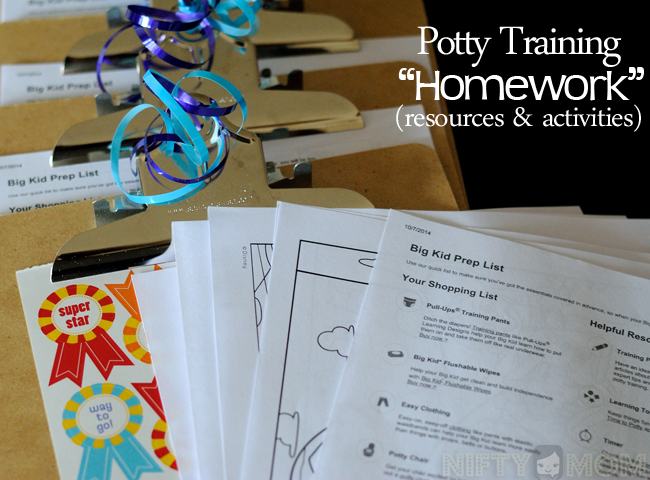 Potty Training Party Homework