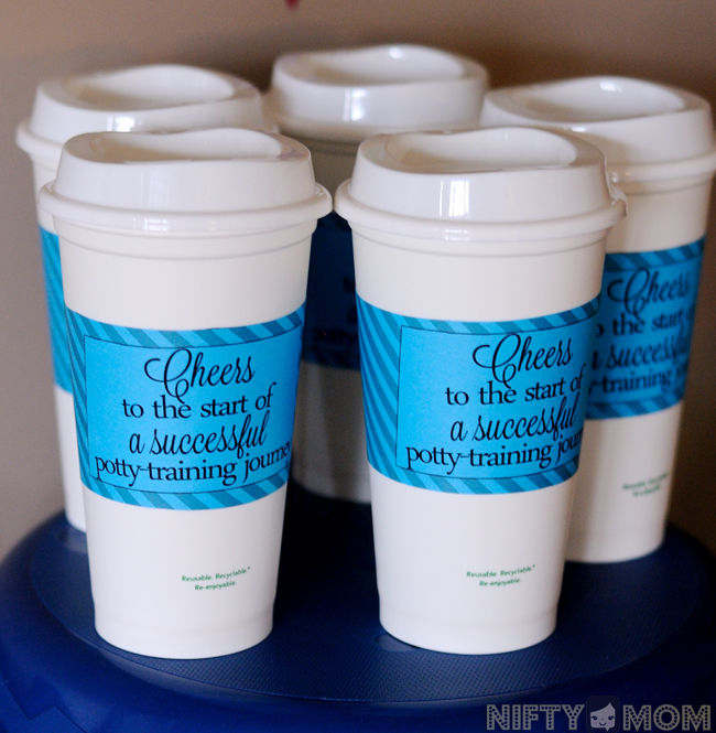 Mom Gifts with Starbucks Gift Cards at Potty Training Party