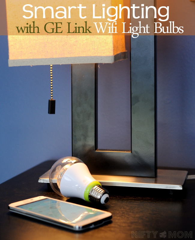 Smart Lighting with GE Link Light Bulbs #GELink #shop