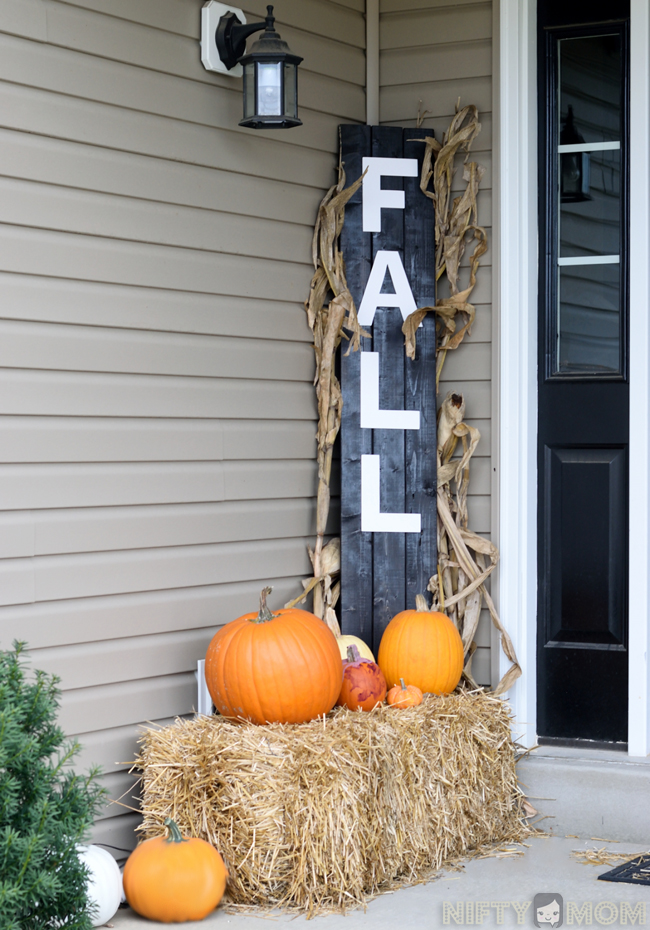 5 Easy Fall Porch Decorations Diy Fall Porch Sign