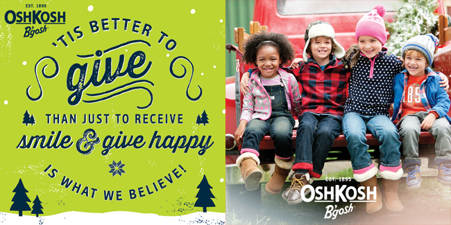 OshKosh B'gosh #GiveHappy