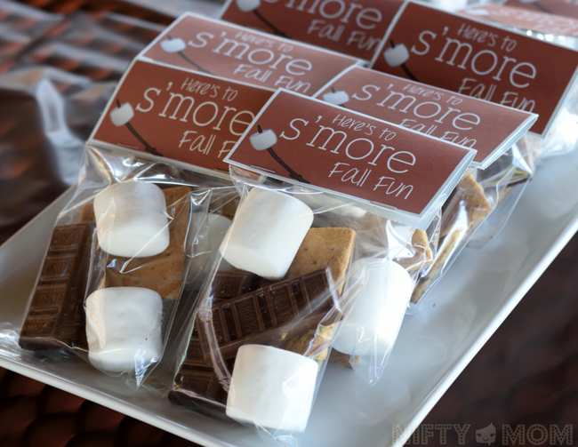 Fall S'mores Party Treat Bags