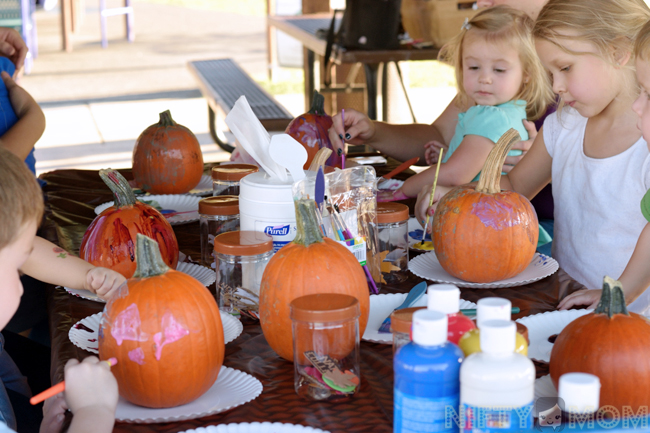 Fall Party Kids Pumpkin Painting