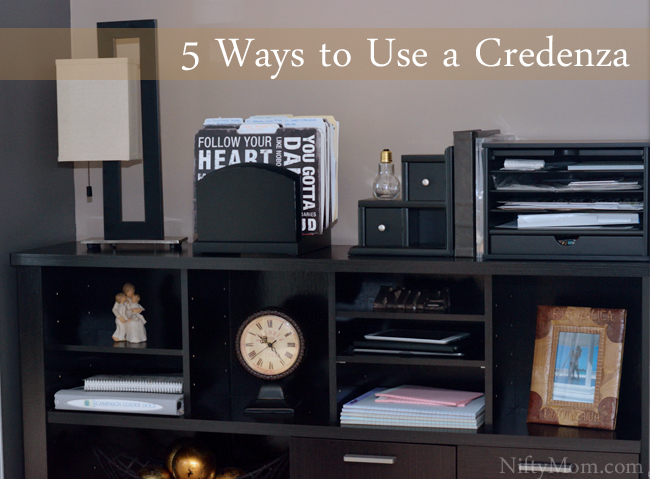 5 Ways to Use a Credenza