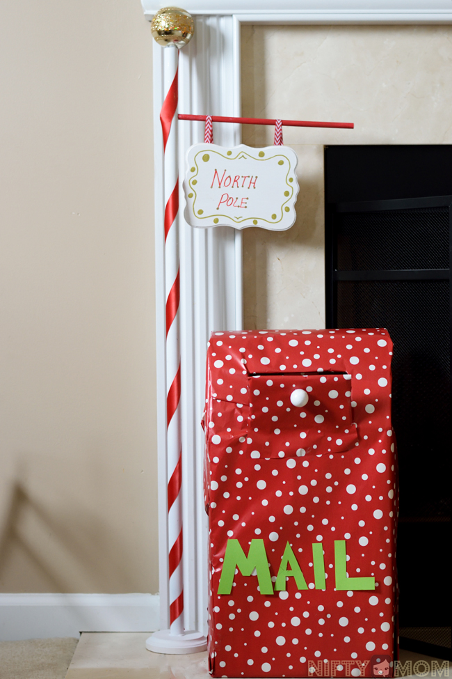DIY North Pole Sign & Santa Mailbox