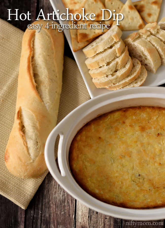 Hot Artichoke Dip - an easy 4-ingredient recipe