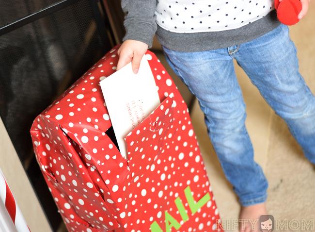 Mailing Santa a Letter in DIY Santa Mailbox