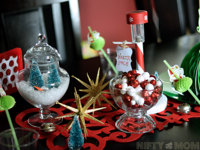 North Pole Party Table Decor