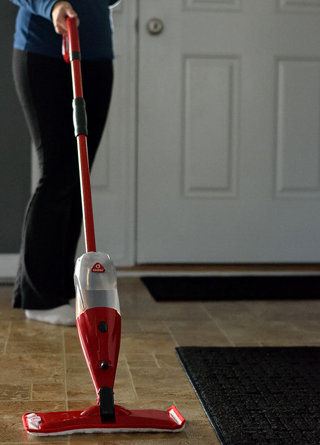 Keep Floors Clean with O-Cedar ProMist Spray Mop