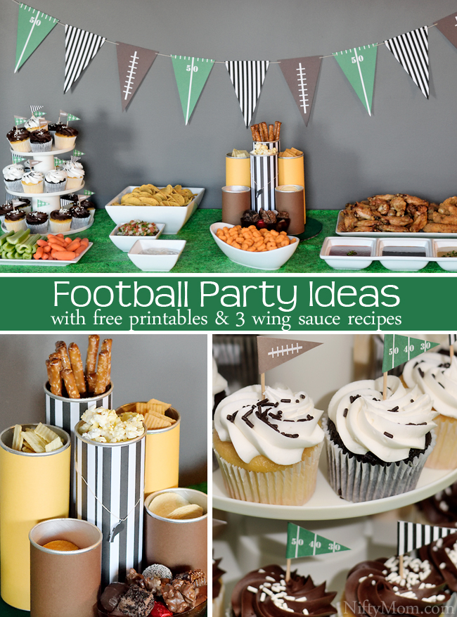 Football Party Ideas with Free Printables, recipes, and more