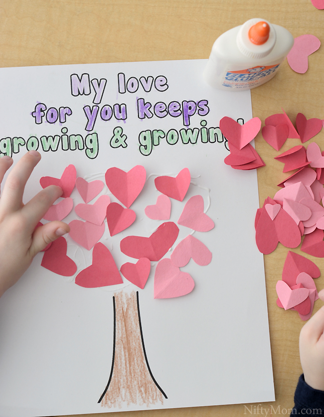 Valentines Day Craft Ideas For Kids Part - 20: Preschool Heart Tree Craft With Printable Activity Sheet (Great For Valentineu0027s  Day!)
