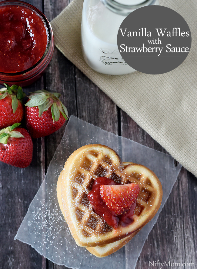 How to Make Vanilla Waffles with Strawberry Sauce