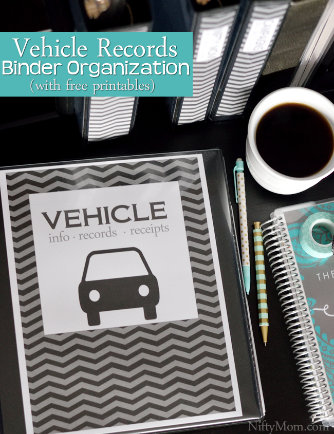 Vehicle Documents - Binder Organization with Free Printables