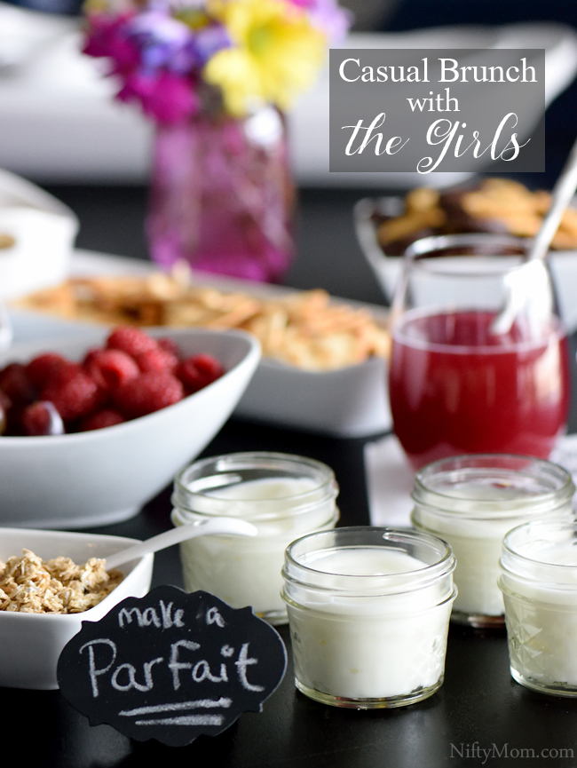 Casual Brunch with the Girls - Simple ideas with a mini parfait bar