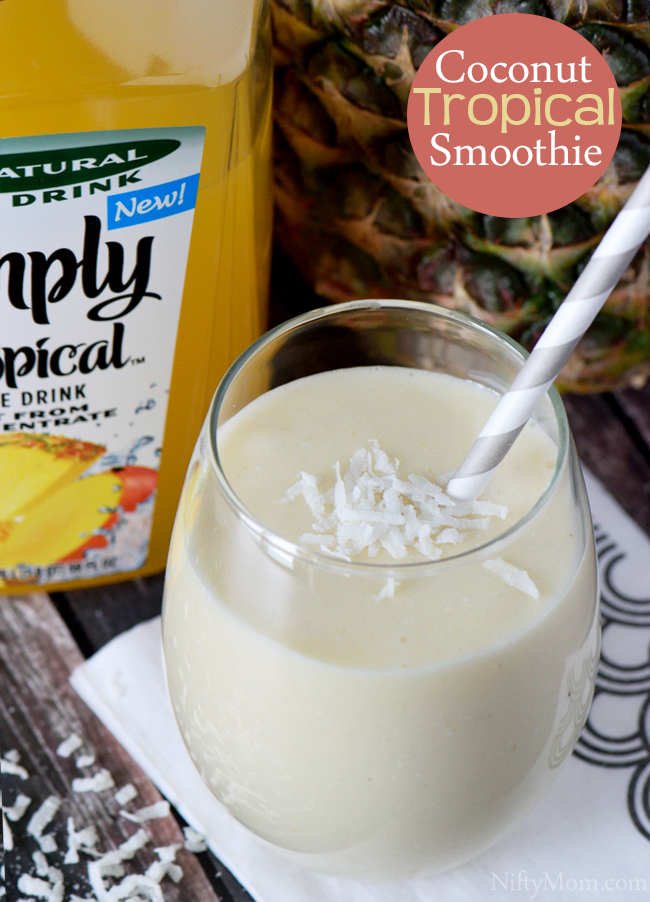 An easy tropical coconut smoothie recipe