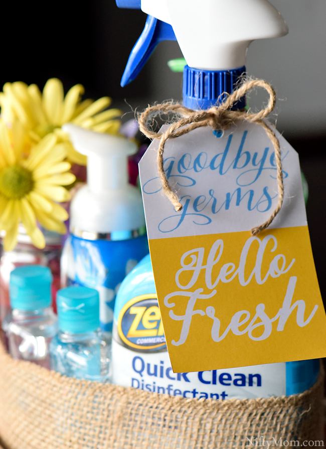 Good Germs. Hello Fresh. with Free Printable Gift Tag #ZepSocialstars
