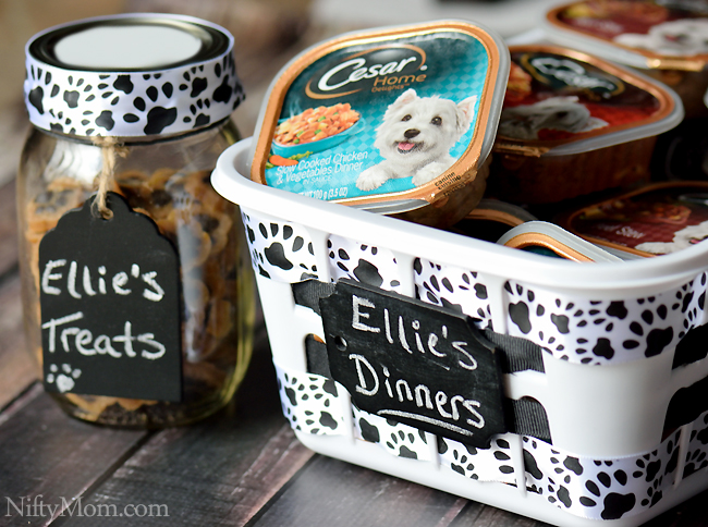 DIY Dog Food & Treat Storage #CesarHomeDelights