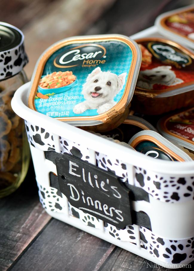 Wet Dog Food Storage #CesarHomeDelights