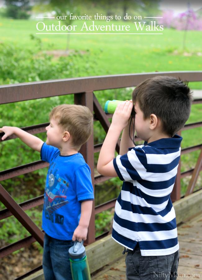 Favorite Things To Do on Outdoor Adventure Walks #GoldfishTales