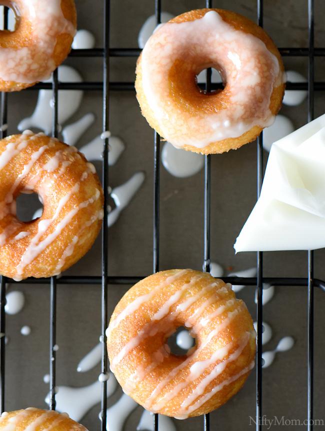 Iced Homemade Vanilla Mini Donuts