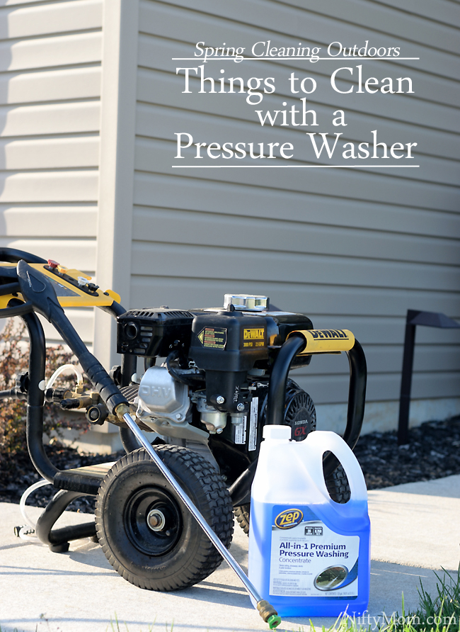 Spring Cleaning Outdoors - Things to Clean with a Pressure Washer #ZepSocialstars