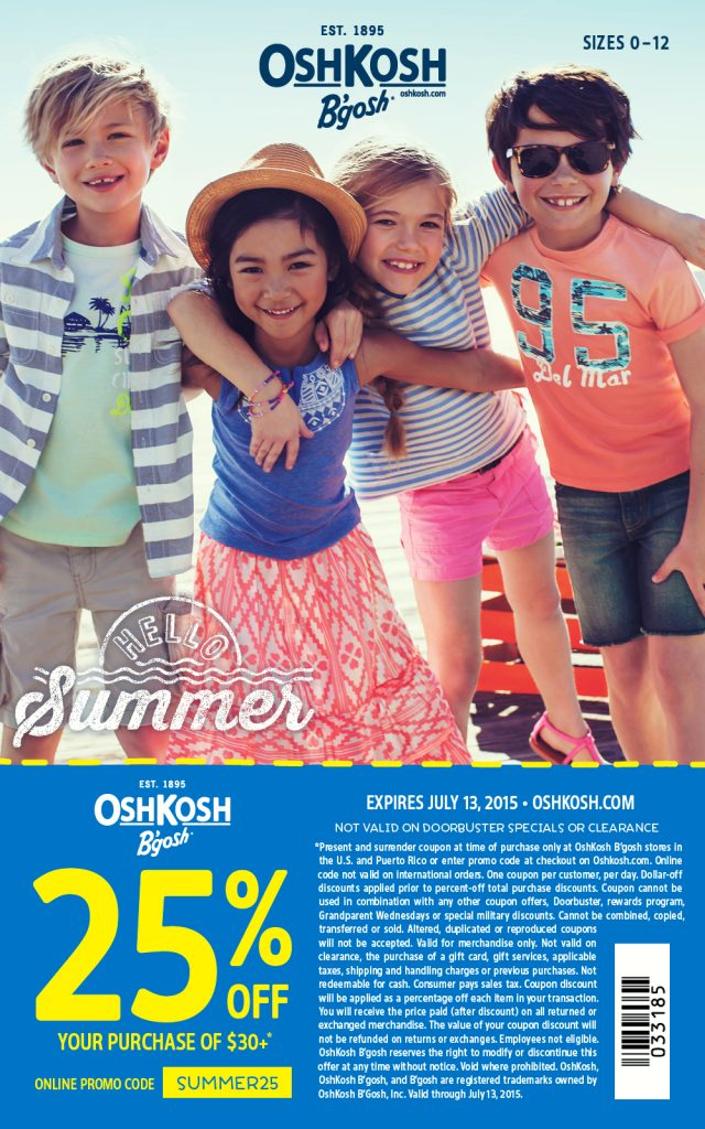 OshKosh Coupon 2015