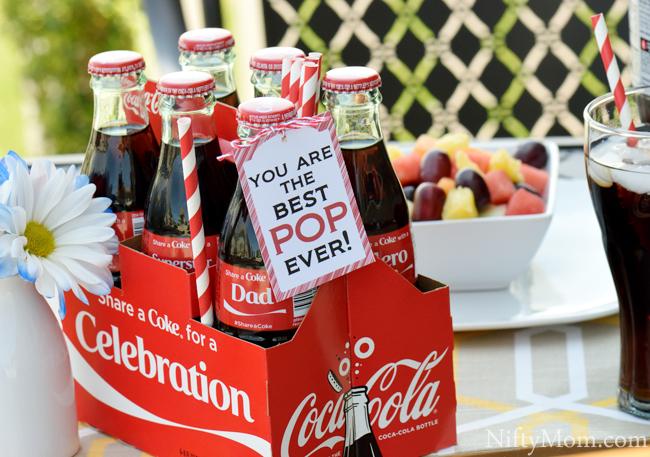 Printable Gift Tag for Dad & Soda Bottles
