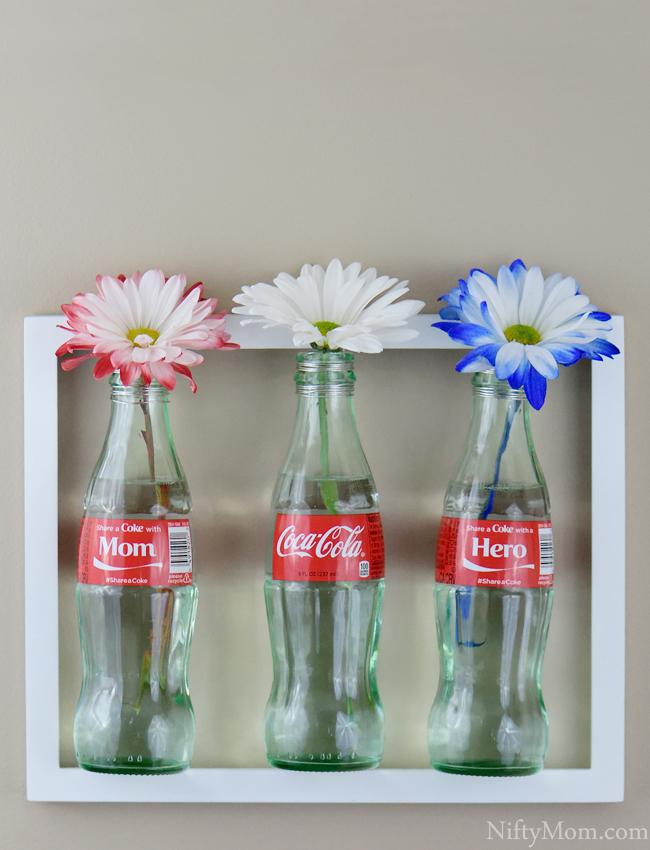 Wall Framed Soda Bottle Flower Vases #ShareAtSchnucks