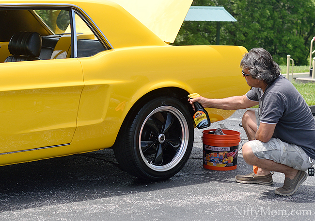 67 Ford Mustang & Armor All Tire Shine