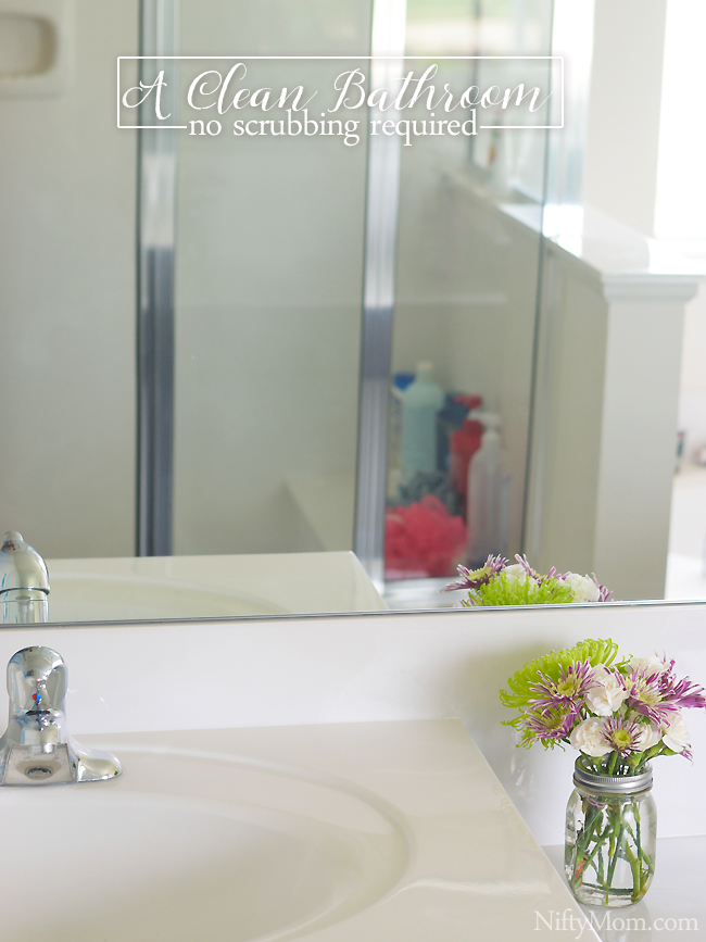 Keeping a clean bathroom (including the shower stains) with no scrubbing #ZepSocialstars