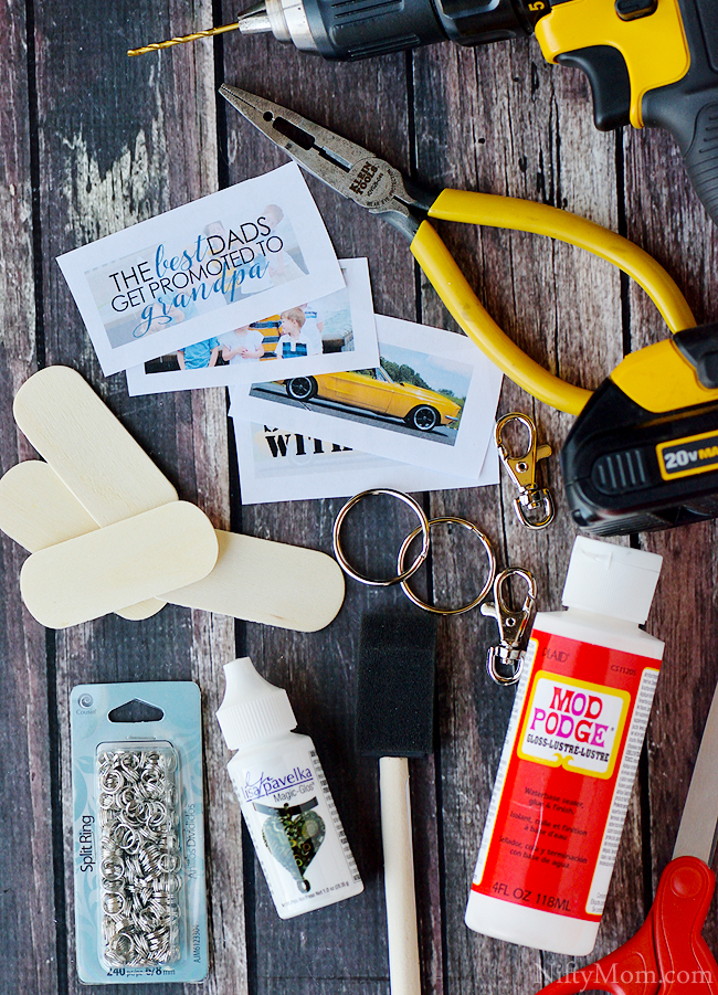 DIY Photo Keychain Supplies