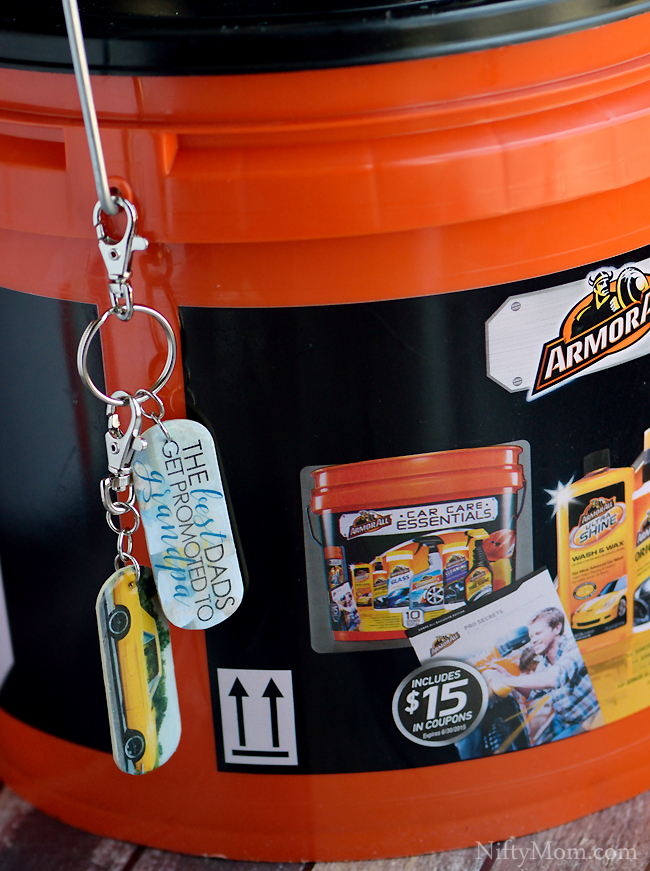 Father's Day Gift for Car Lovers - Armor All Gift Bucket & DIY Photo Keychains