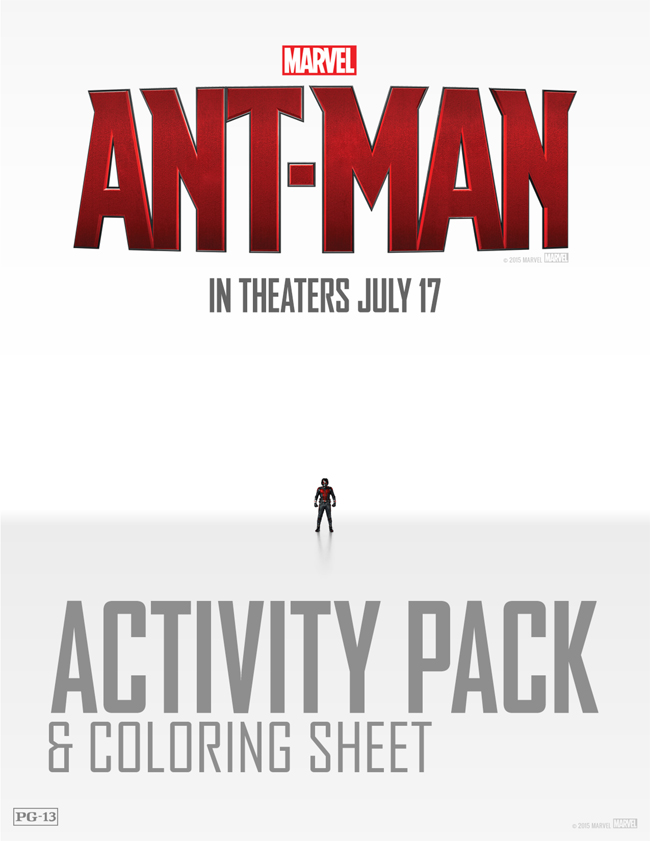 Free ANT-MAN Activity Pack & Coloring Sheets
