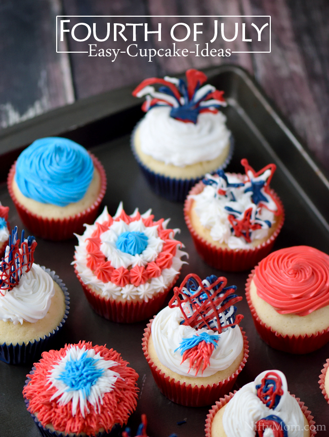Easy Cupcake Ideas for the 4th of July