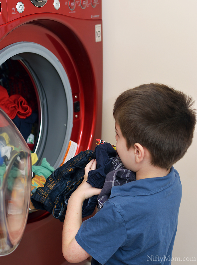 Kids Helping with Laundry