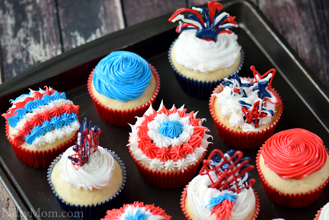 Easy Fourth of July Cupcake Ideas