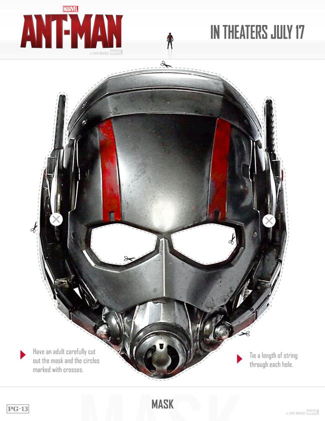 Printable ANT-MAN Mask