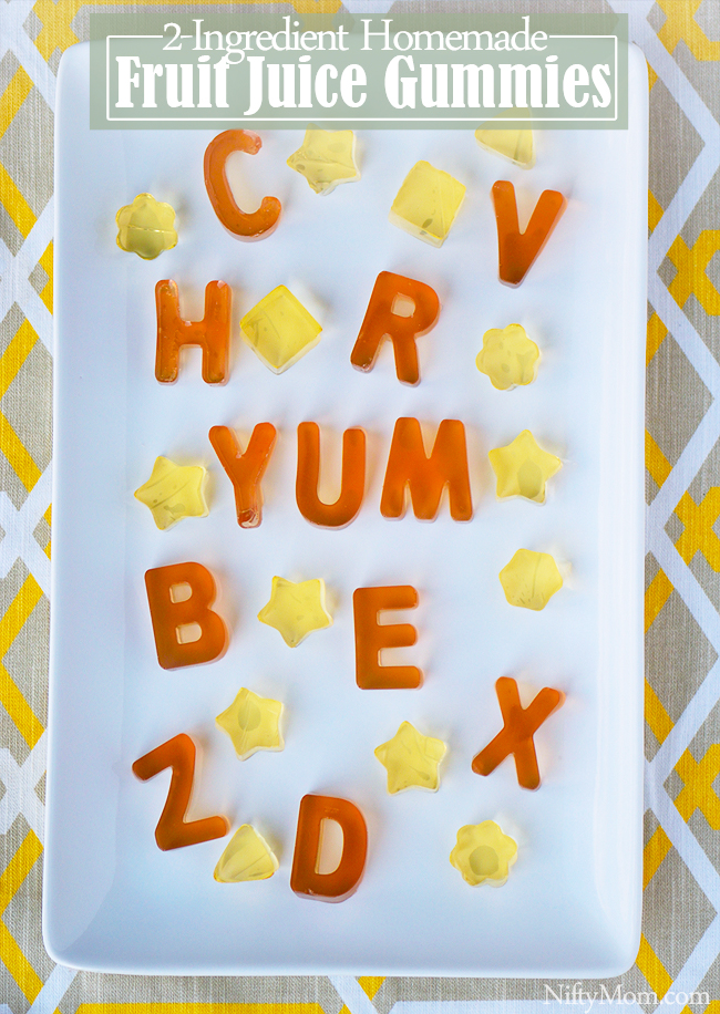 How to make homemade fruit snacks with just 2 ingredients & an alphabet mold