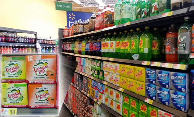 Canada Dry at Walmart #WaterOnlyBetter