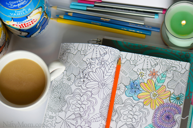 Coffee + Coloring = Relaxing and A Fresh Start Every Morning #InspiredStart