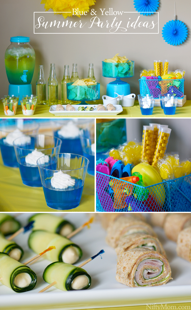 Blue & Yellow Summer Party Ideas #DipYourWay