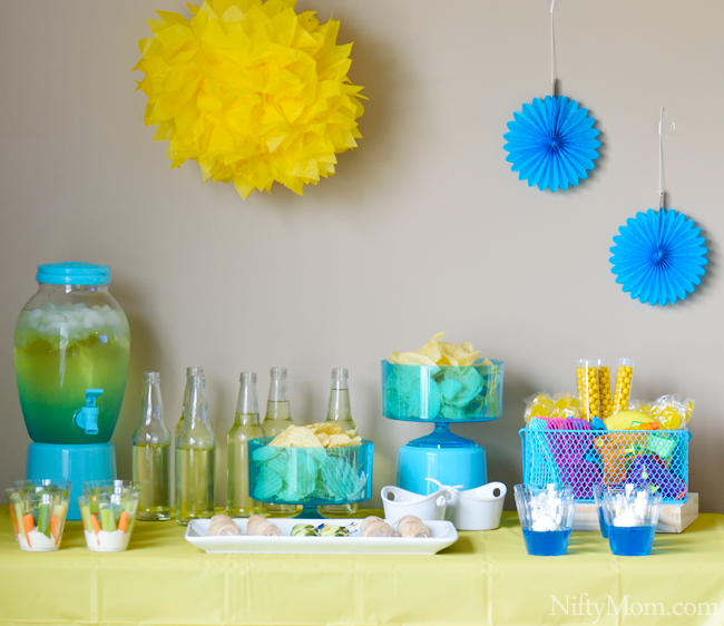 Blue & Yellow Summer Party #DipYourWay