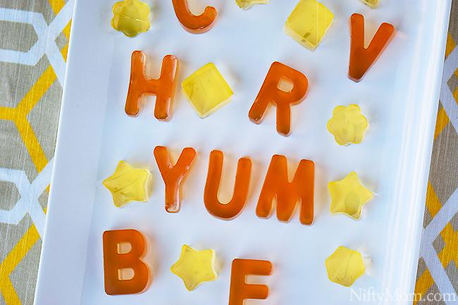 Homemade Alphabet Fruit Juice Gummies (only 2 ingredients)