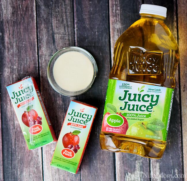 Homemade Alphabet Fruit Juice Gummies Ingredients