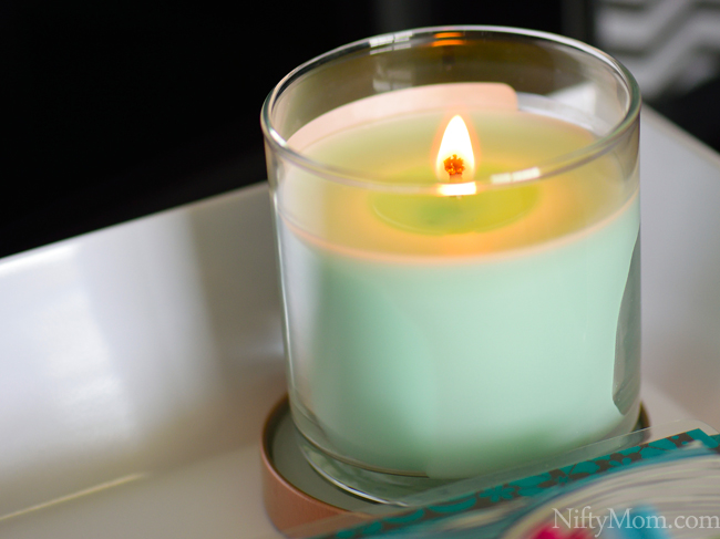 Relaxing candle in the morning