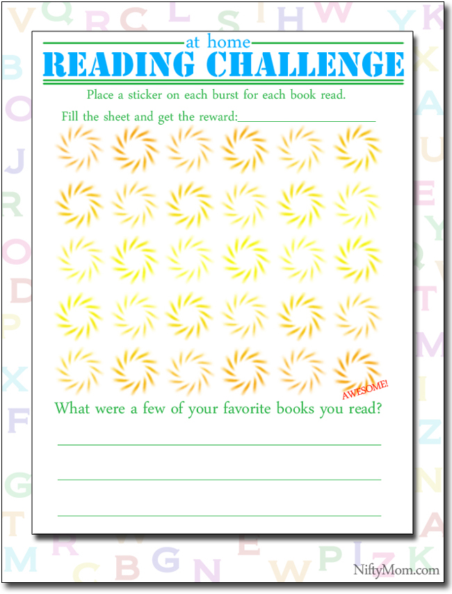 Free Printable Reading Challenge for Kids #Back2SchoolReady