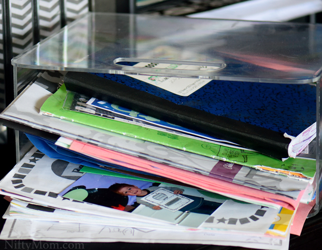 How to Organize Random School Paperwork Memorabilia #WaterOnlyBetter
