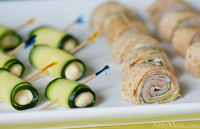 Pinwheels and Roll-ups for a Summer Party #DipYourWay