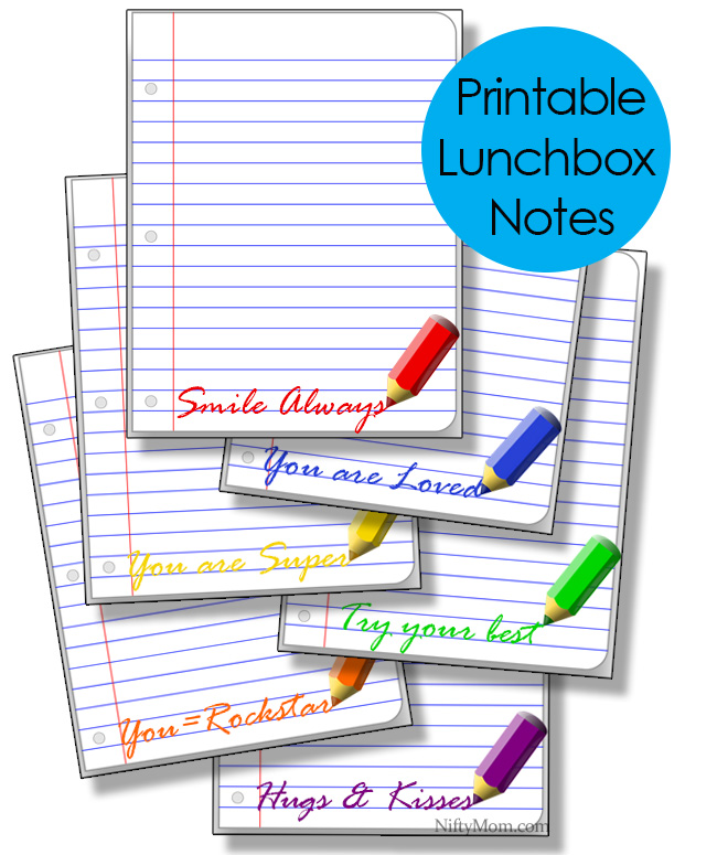 Printable Blank Lunchbox Lined-Paper Notes #TeamJif